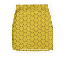 Gold Dragon Scales Mini Skirt