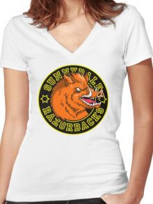 Sunnydale Razorbacks Women's Fitted V-Neck T-Shirt