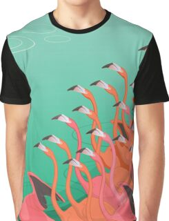 Fresco of the flamingoes Graphic T-Shirt