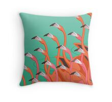 Fresco of the flamingoes Throw Pillow