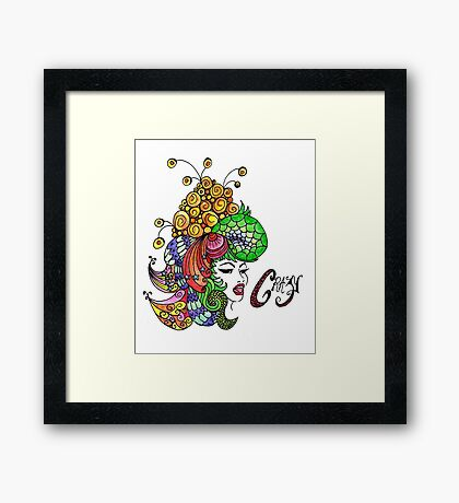 Crazy Colourful Hair Day Framed Print