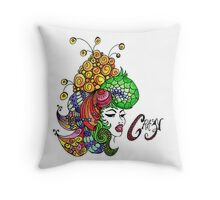 Crazy Colourful Hair Day Throw Pillow