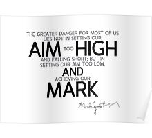 aim high and mark - michelangelo Poster