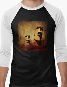 Easter Island Moai Heads Men's Baseball ¾ T-Shirt