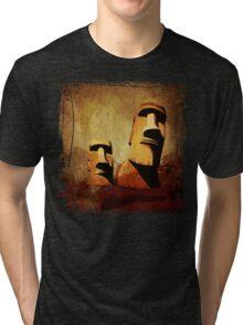 Easter Island Moai Heads Tri-blend T-Shirt