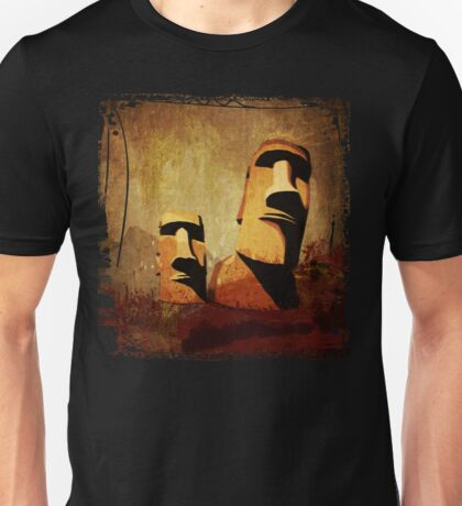 Easter Island Moai Heads Unisex T-Shirt