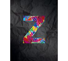 Fun Letter - Z Photographic Print