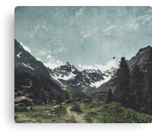 High Valley  Italian Alps Canvas Print