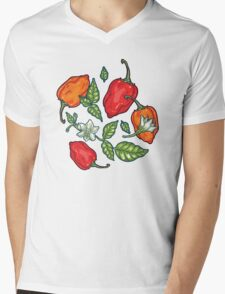 naughty habanero Mens V-Neck T-Shirt