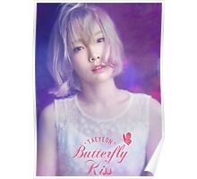 taeyeon butterfly kiss poster Poster