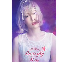 taeyeon butterfly kiss poster Photographic Print