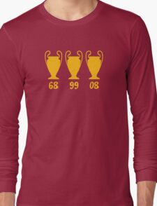 Manchester United - Champions League winning years Long Sleeve T-Shirt
