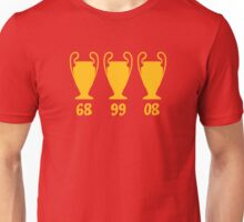 Manchester United - Champions League winning years Unisex T-Shirt