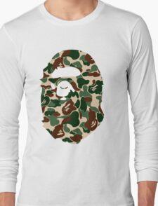 bape logo army Long Sleeve T-Shirt