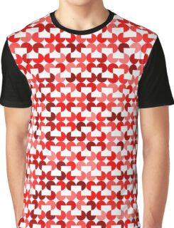 Retro geometrical red arcs pattern Graphic T-Shirt