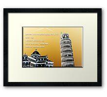 Pisa Tower Framed Print