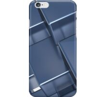 Stacked blue reflexive cubes iPhone Case/Skin