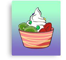Frozen Yoghurt Canvas Print