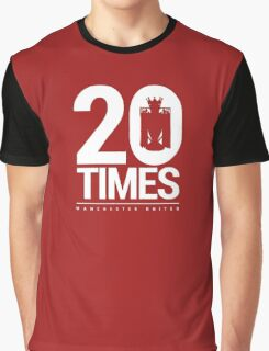 Manchester United - 20 Times Graphic T-Shirt