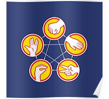 Rock Paper Scissors Lizard Spock - Yellow Variant Poster
