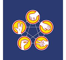 Rock Paper Scissors Lizard Spock - Yellow Variant Photographic Print