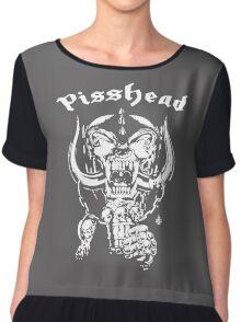 pisshead funny heavy metal Chiffon Top
