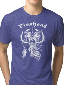 pisshead funny heavy metal Tri-blend T-Shirt