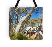 Snowy Mountains scene Tote Bag