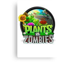 Plants VS Zombies Canvas Print