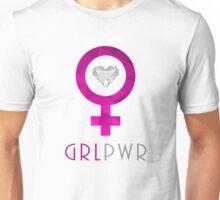 Women's Cute GRL PWR (Girl Power) Chic Designer Love Tee Shirt Unisex T-Shirt