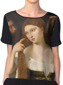 Tiziano Vecellio, Titian - Girl Before the Mirror Chiffon Top