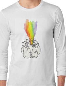 Cat Rainbow Ritual Long Sleeve T-Shirt