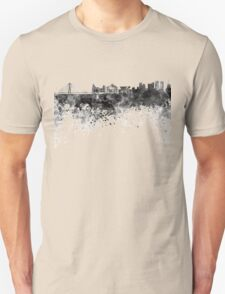 Warsaw skyline in black watercolor Unisex T-Shirt