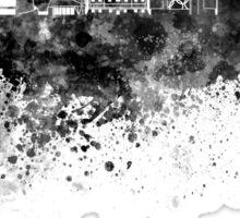 Warsaw skyline in black watercolor Sticker
