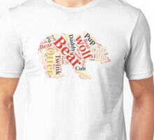 Gay bear rainbow wordle Unisex T-Shirt