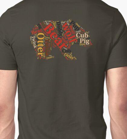 Gay bear rainbow wordle Unisex T-Shirt