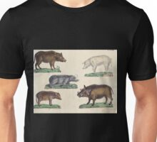 Naturgeschichte in Bildern mit erläuterndem Text E Strack 1820 Lief 1 Mammals 077 Unisex T-Shirt