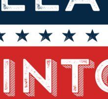 Retro Hillary Clinton for President Sticker