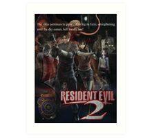 Resident Evil 2 Art Print