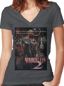 Resident Evil 2 Women's Fitted V-Neck T-Shirt