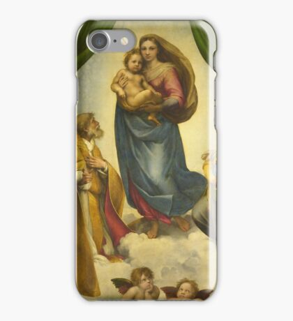 Raphael - The Sistine Madonna iPhone Case/Skin