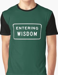 Entering Wisdom, Road Sign, MT, USA Graphic T-Shirt