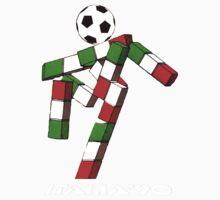 Italia 90 World Cup Ciao Mascotte and write (A) Kids Tee