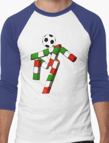 Italia 90 World Cup Ciao Mascotte and write (A) Men's Baseball ¾ T-Shirt