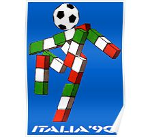 Italia 90 World Cup Ciao Mascotte and write (A) Poster