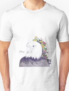 Illustrated Eagle (Flower) T-Shirt