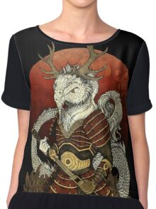 Dragon Samurai - Colour Chiffon Top
