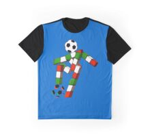 Italia 90 World Cup Ciao Mascotte with ball Graphic T-Shirt