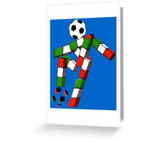 Italia 90 World Cup Ciao Mascotte with ball Greeting Card
