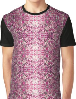 Pink Knitted Jumper Graphic T-Shirt